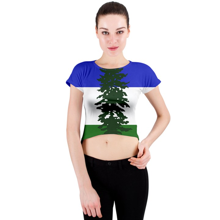 Flag of Cascadia Crew Neck Crop Top
