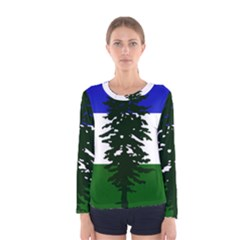 Flag Of Cascadia Women s Long Sleeve Tee