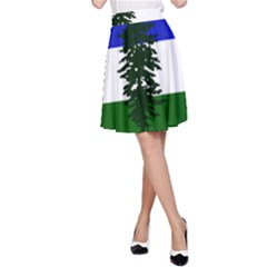 Flag Of Cascadia A Line Skirt