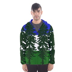 Flag Of Cascadia Hooded Wind Breaker (men) by abbeyz71