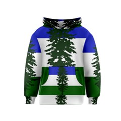 Flag Of Cascadia Kids  Pullover Hoodie by abbeyz71