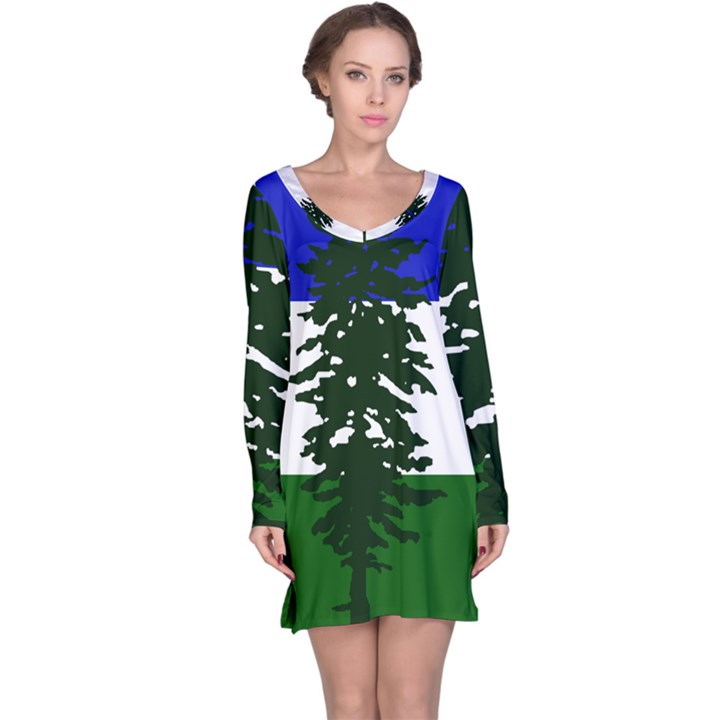 Flag of Cascadia Long Sleeve Nightdress