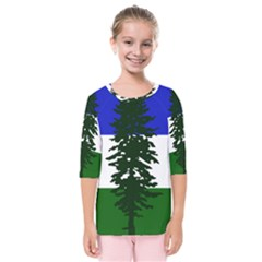 Flag Of Cascadia Kids  Quarter Sleeve Raglan Tee