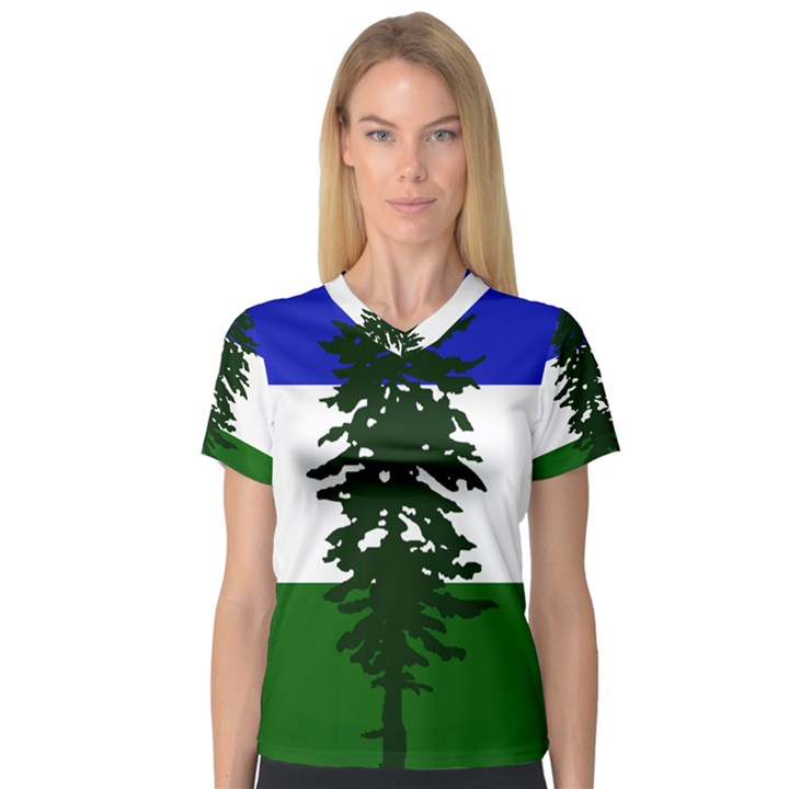Flag of Cascadia V-Neck Sport Mesh Tee