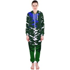 Flag Of Cascadia Hooded Jumpsuit (ladies)