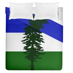 Flag Of Cascadia Duvet Cover Double Side (queen Size) by abbeyz71