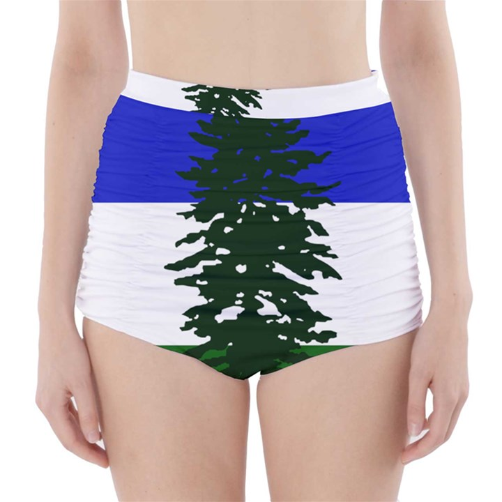 Flag of Cascadia High-Waisted Bikini Bottoms