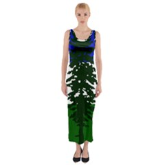 Flag Of Cascadia Fitted Maxi Dress