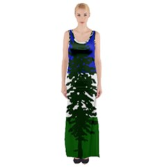 Flag Of Cascadia Maxi Thigh Split Dress by abbeyz71