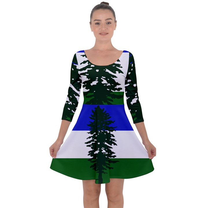 Flag of Cascadia Quarter Sleeve Skater Dress