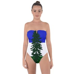 Flag Of Cascadia Tie Back One Piece Swimsuit