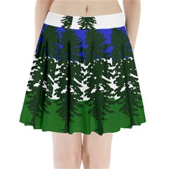Flag Of Cascadia Pleated Mini Skirt