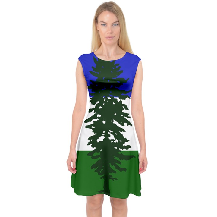 Flag of Cascadia Capsleeve Midi Dress
