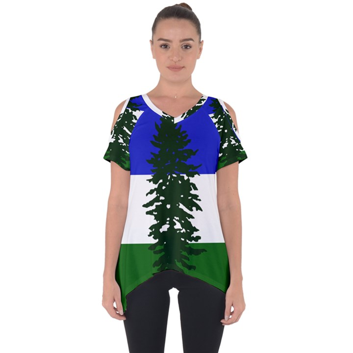 Flag of Cascadia Cut Out Side Drop Tee