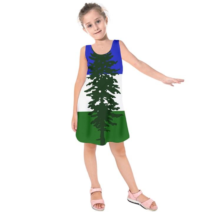 Flag of Cascadia Kids  Sleeveless Dress