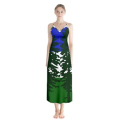 Flag Of Cascadia Button Up Chiffon Maxi Dress by abbeyz71