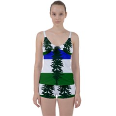 Flag Of Cascadia Tie Front Two Piece Tankini