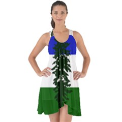 Flag Of Cascadia Show Some Back Chiffon Dress by abbeyz71