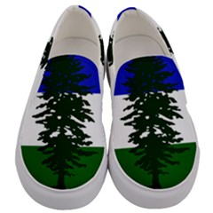 Flag Of Cascadia Men s Canvas Slip Ons
