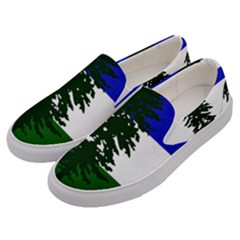Flag Of Cascadia Men s Canvas Slip Ons by abbeyz71