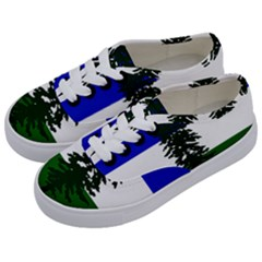 Flag Of Cascadia Kids  Classic Low Top Sneakers by abbeyz71