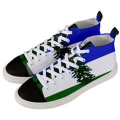 Flag Of Cascadia Men s Mid Top Canvas Sneakers by abbeyz71