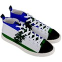 Flag of Cascadia Men s Mid-Top Canvas Sneakers View3