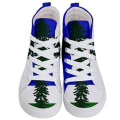 Flag Of Cascadia Kid s Hi Top Skate Sneakers