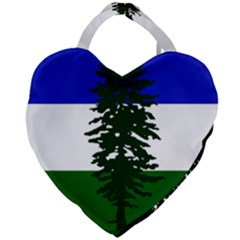 Flag Of Cascadia Giant Heart Shaped Tote by abbeyz71