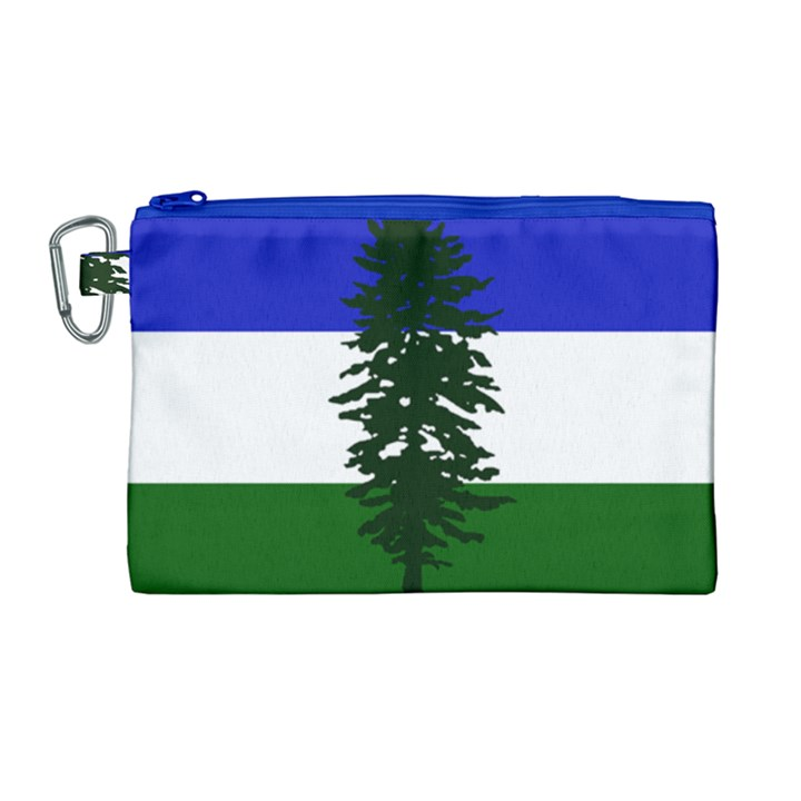 Flag of Cascadia Canvas Cosmetic Bag (Large)