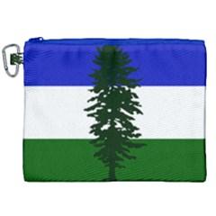 Flag Of Cascadia Canvas Cosmetic Bag (xxl)