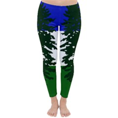 Flag Of Cascadia Classic Winter Leggings by abbeyz71