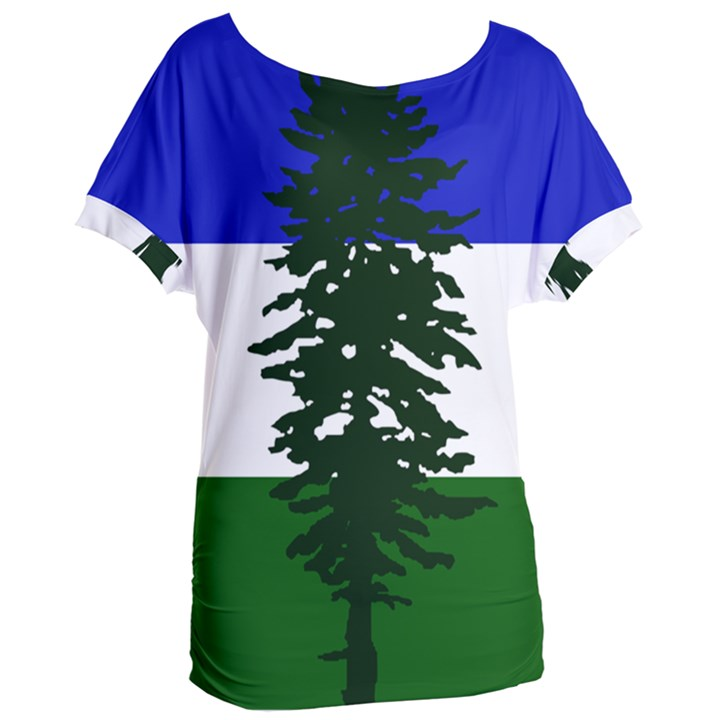 Flag of Cascadia Women s Oversized Tee