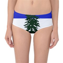 Flag Of Cascadia Mid Waist Bikini Bottoms by abbeyz71