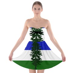 Flag Of Cascadia Strapless Bra Top Dress by abbeyz71