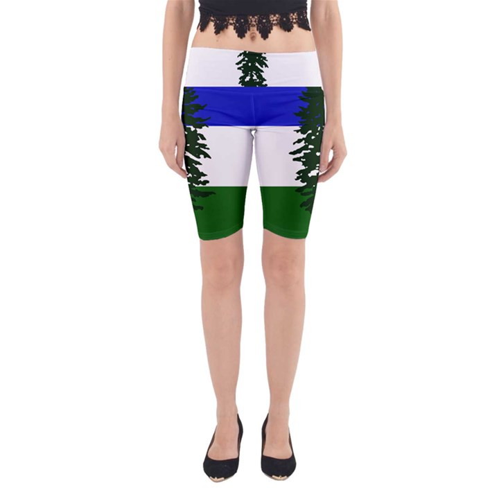 Flag of Cascadia Yoga Cropped Leggings