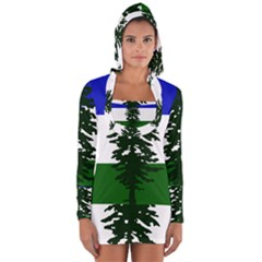 Flag Of Cascadia Long Sleeve Hooded T Shirt by abbeyz71