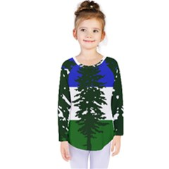 Flag Of Cascadia Kids  Long Sleeve Tee by abbeyz71