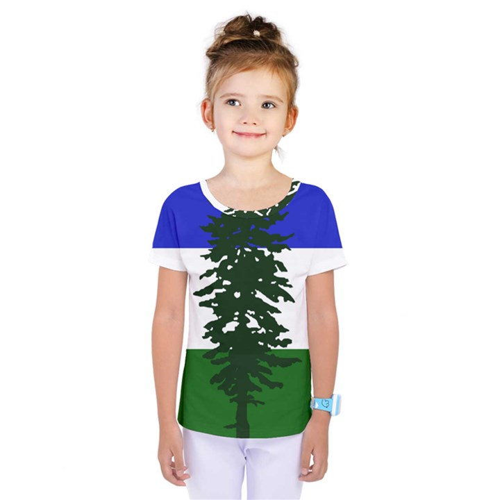 Flag of Cascadia Kids  One Piece Tee