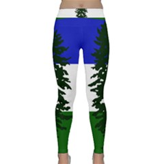 Flag Of Cascadia Classic Yoga Leggings by abbeyz71