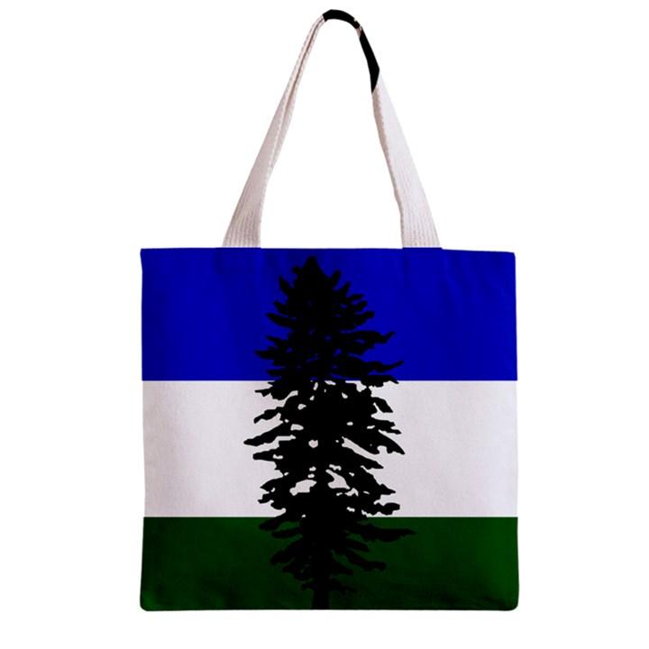 Flag of Cascadia Zipper Grocery Tote Bag