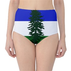 Flag Of Cascadia High Waist Bikini Bottoms by abbeyz71