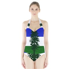Flag Of Cascadia Halter Swimsuit by abbeyz71