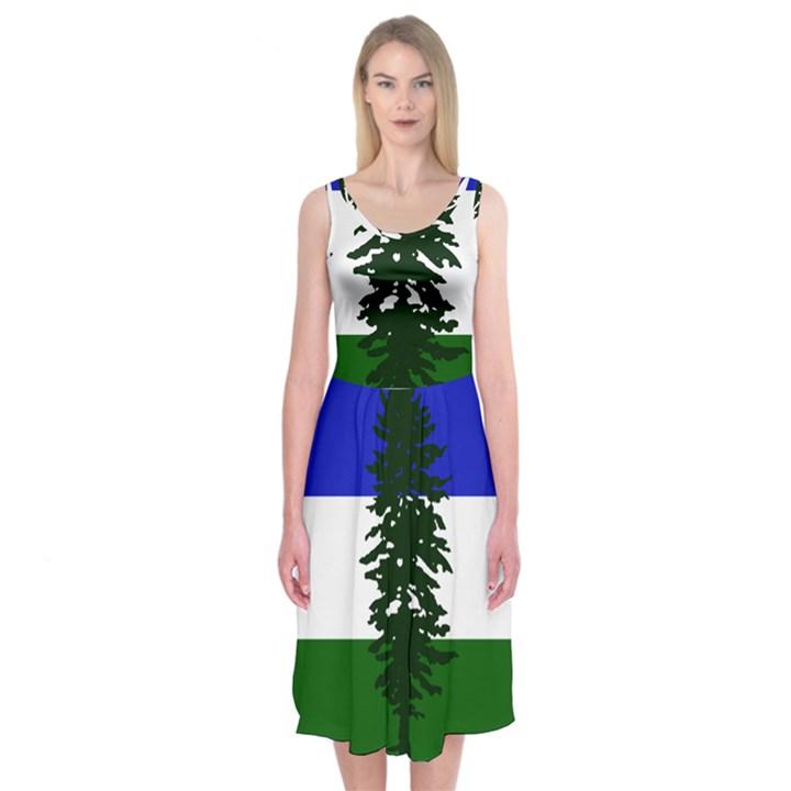 Flag of Cascadia Midi Sleeveless Dress