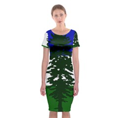 Flag Of Cascadia Classic Short Sleeve Midi Dress by abbeyz71