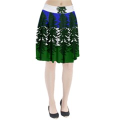 Flag Of Cascadia Pleated Skirt