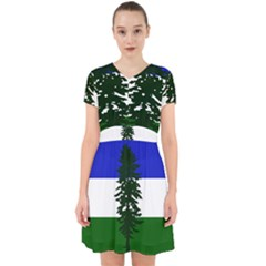 Flag Of Cascadia Adorable In Chiffon Dress