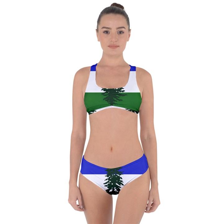 Flag of Cascadia Criss Cross Bikini Set
