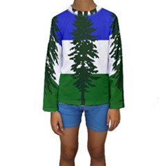 Flag Of Cascadia Kids  Long Sleeve Swimwear by abbeyz71