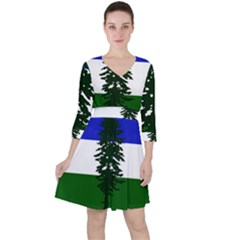 Flag Of Cascadia Ruffle Dress